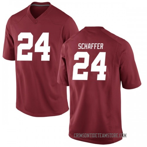 Men's Nike Lawson Schaffer Alabama Crimson Tide Replica Crimson Football College Jersey