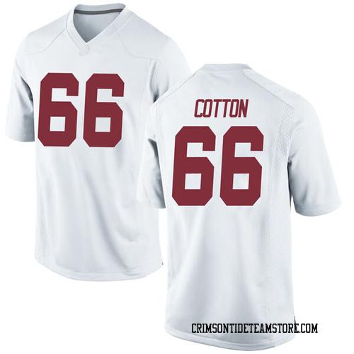 Men's Nike Lester Cotton Sr. Alabama Crimson Tide Replica White Football College Jersey