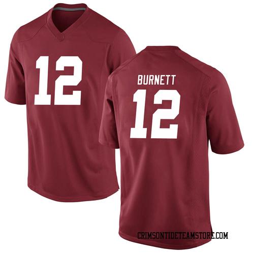 Men's Nike Logan Burnett Alabama Crimson Tide Game Crimson Football College Jersey