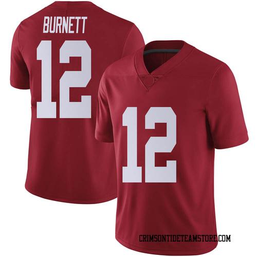 Men's Nike Logan Burnett Alabama Crimson Tide Limited Crimson Football College Jersey