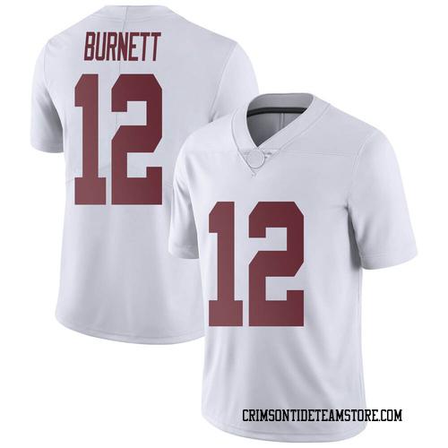 Men's Nike Logan Burnett Alabama Crimson Tide Limited White Football College Jersey