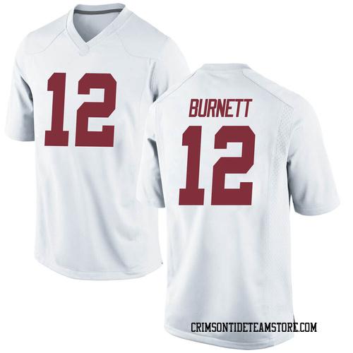 Men's Nike Logan Burnett Alabama Crimson Tide Replica White Football College Jersey