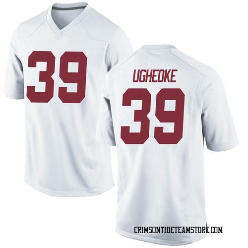 Men's Nike Loren Ugheoke Alabama Crimson Tide Game White Football College Jersey