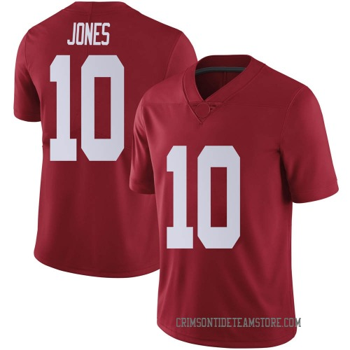 Men's Nike Mac Jones Alabama Crimson Tide Limited Crimson Football College Jersey