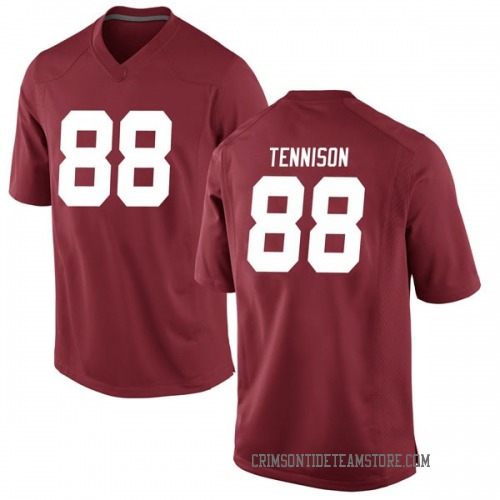Men's Nike Major Tennison Alabama Crimson Tide Game Crimson Football College Jersey