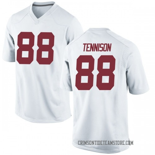 Men's Nike Major Tennison Alabama Crimson Tide Game White Football College Jersey
