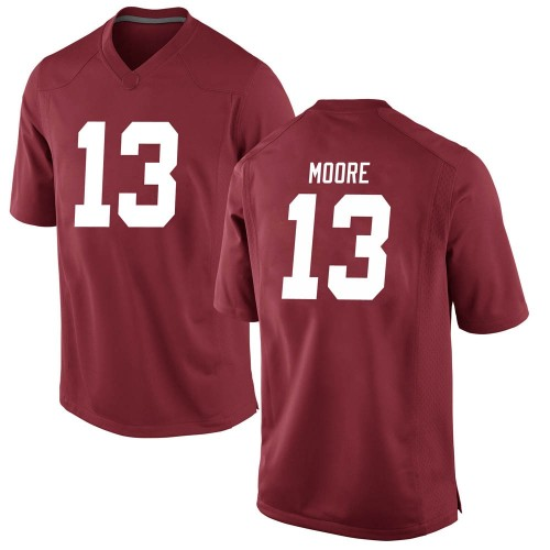 Men's Nike Malachi Moore Alabama Crimson Tide Game Crimson Football College Jersey