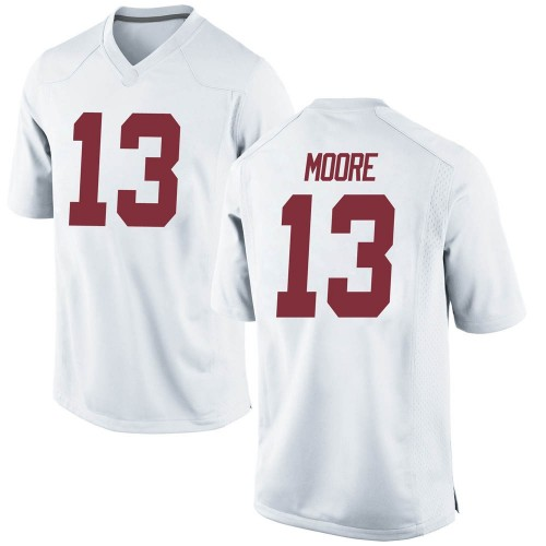 Men's Nike Malachi Moore Alabama Crimson Tide Game White Football College Jersey