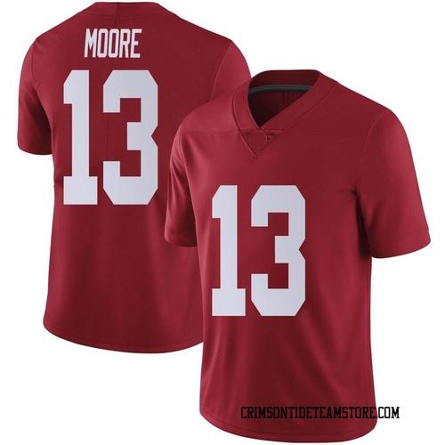 Men's Nike Malachi Moore Alabama Crimson Tide Limited Crimson Football College Jersey