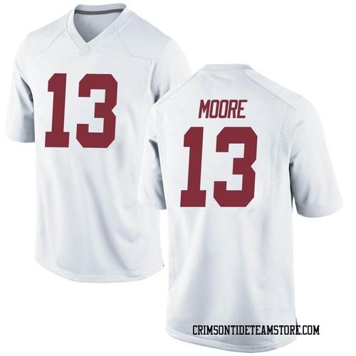 Men's Nike Malachi Moore Alabama Crimson Tide Replica White Football College Jersey