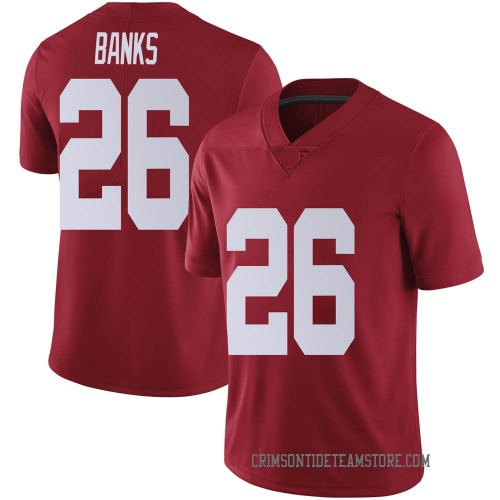 Men's Nike Marcus Banks Alabama Crimson Tide Limited Crimson Football College Jersey