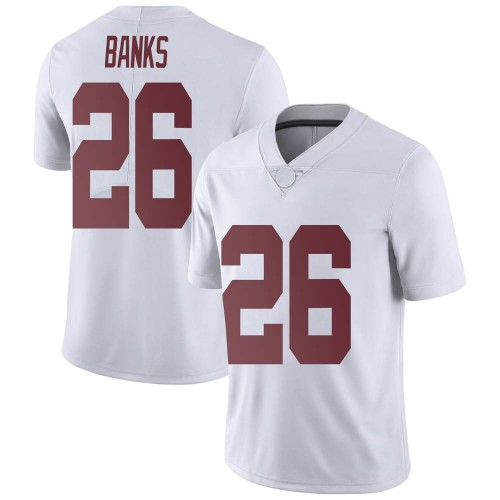 Men's Nike Marcus Banks Alabama Crimson Tide Limited White Football College Jersey