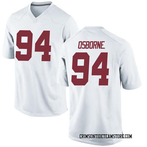 Men's Nike Mario Osborne Jr. Alabama Crimson Tide Game White Football College Jersey
