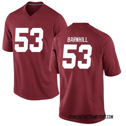 Men's Nike Matthew Barnhill Alabama Crimson Tide Game Crimson Football College Jersey