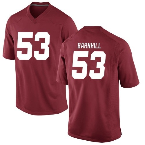 Men's Nike Matthew Barnhill Alabama Crimson Tide Replica Crimson Football College Jersey