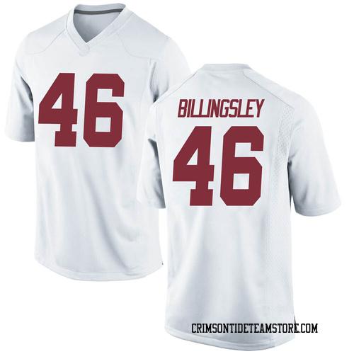 Men's Nike Melvin Billingsley Alabama Crimson Tide Game White Football College Jersey