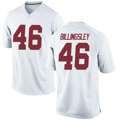 Men's Nike Melvin Billingsley Alabama Crimson Tide Replica White Football College Jersey