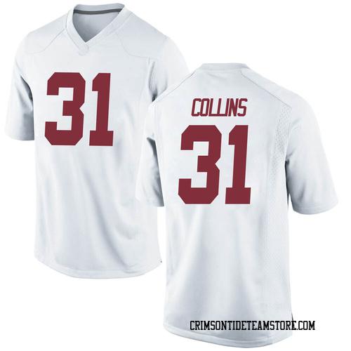 Men's Nike Michael Collins Alabama Crimson Tide Replica White Football College Jersey
