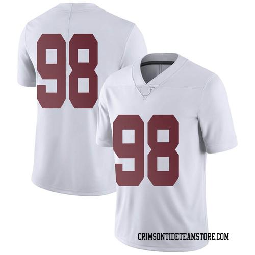 Men's Nike Mike Bernier Alabama Crimson Tide Limited White Football College Jersey