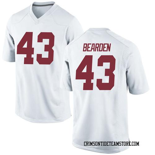 Men's Nike Parker Bearden Alabama Crimson Tide Game White Football College Jersey