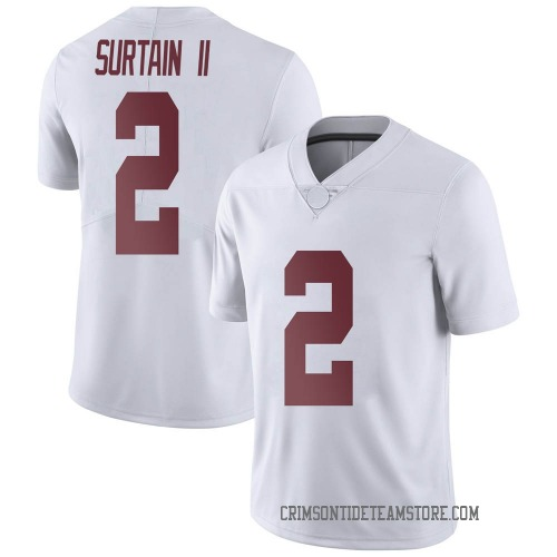 Men's Nike Patrick Surtain II Alabama Crimson Tide Limited White Football College Jersey