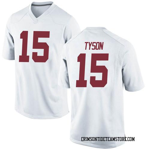 Men's Nike Paul Tyson Alabama Crimson Tide Replica White Football College Jersey