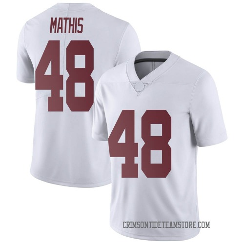 Men's Nike Phidarian Mathis Alabama Crimson Tide Limited White Football College Jersey
