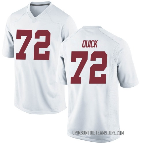 Men's Nike Pierce Quick Alabama Crimson Tide Game White Football College Jersey
