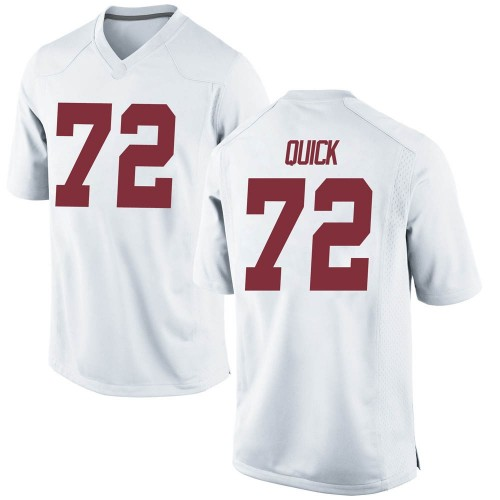 Men's Nike Pierce Quick Alabama Crimson Tide Replica White Football College Jersey