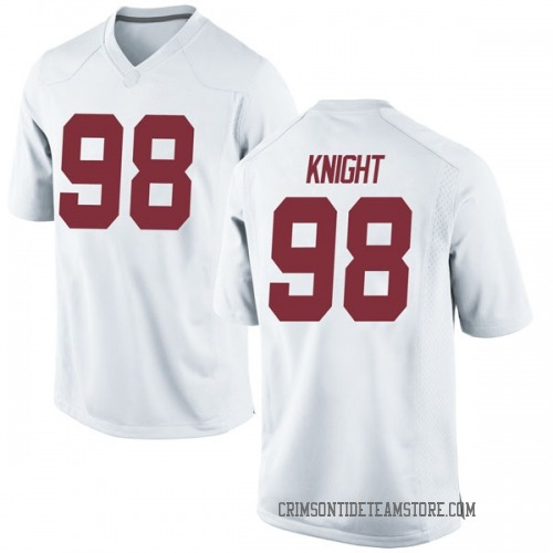 Men's Nike Preston Knight Alabama Crimson Tide Game White Football College Jersey