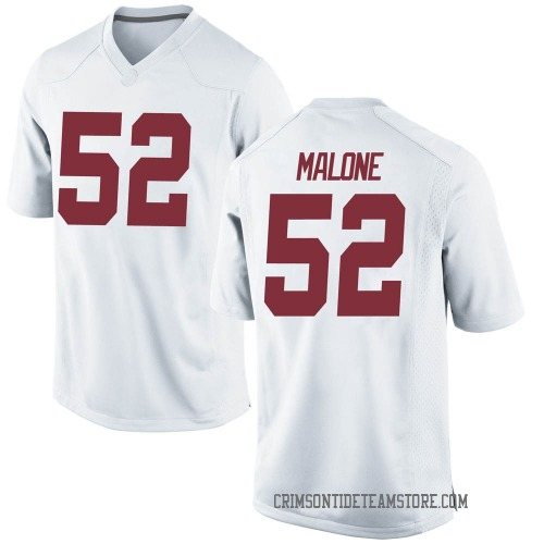 Men's Nike Preston Malone Alabama Crimson Tide Game White Football College Jersey