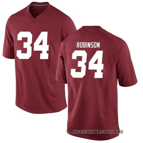 Men's Nike Quandarrius Robinson Alabama Crimson Tide Game Crimson Football College Jersey