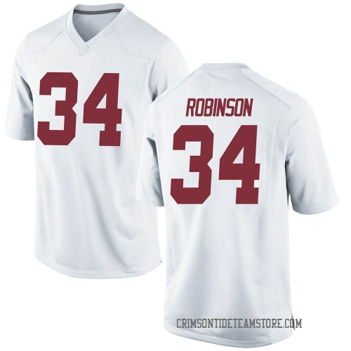 Men's Nike Quandarrius Robinson Alabama Crimson Tide Replica White Football College Jersey
