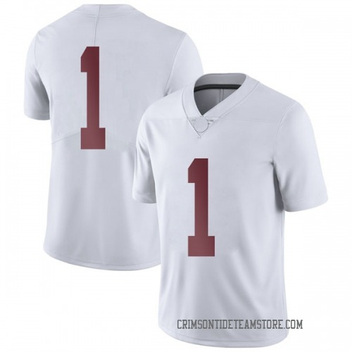 Men's Nike Riley Norris Alabama Crimson Tide Limited White Football College Jersey