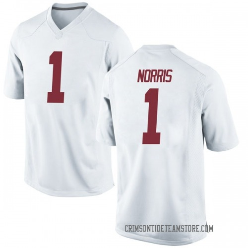 Men's Nike Riley Norris Alabama Crimson Tide Replica White Football College Jersey