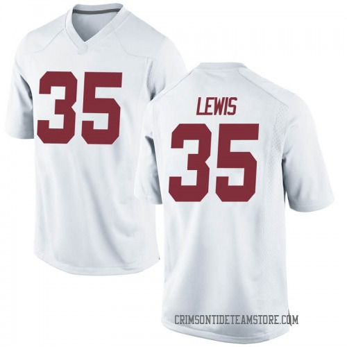 Men's Nike Rogria Lewis Alabama Crimson Tide Game White Football College Jersey