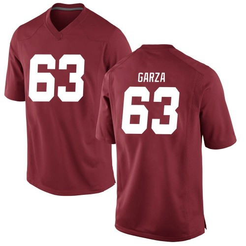Men's Nike Rowdy Garza Alabama Crimson Tide Game Crimson Football College Jersey