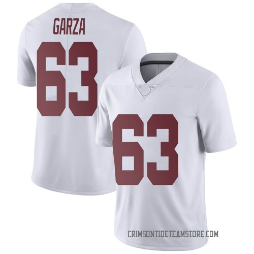 Men's Nike Rowdy Garza Alabama Crimson Tide Limited White Football College Jersey