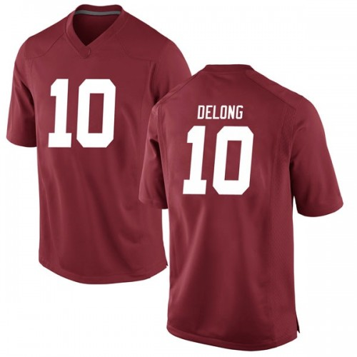 Men's Nike Skyler DeLong Alabama Crimson Tide Game Crimson Football College Jersey