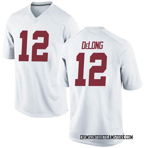 Men's Nike Skyler DeLong Alabama Crimson Tide Replica White Football College Jersey