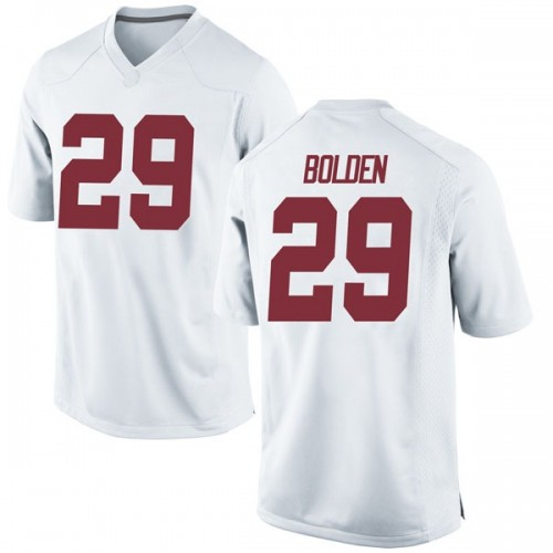 Men's Nike Slade Bolden Alabama Crimson Tide Game White Football College Jersey