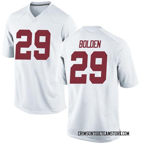 Men's Nike Slade Bolden Alabama Crimson Tide Replica White Football College Jersey