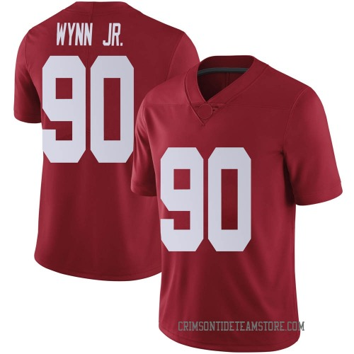 Men's Nike Stephon Wynn Jr. Alabama Crimson Tide Limited Crimson Football College Jersey