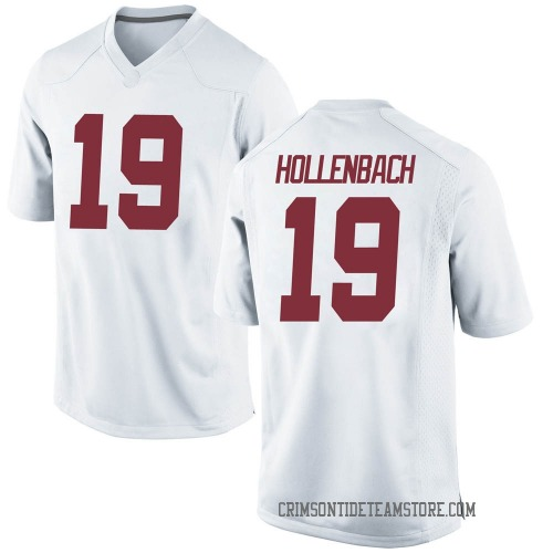 Men's Nike Stone Hollenbach Alabama Crimson Tide Replica White Football College Jersey