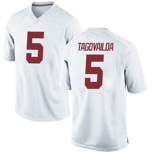 Men's Nike Taulia Tagovailoa Alabama Crimson Tide Replica White Football College Jersey