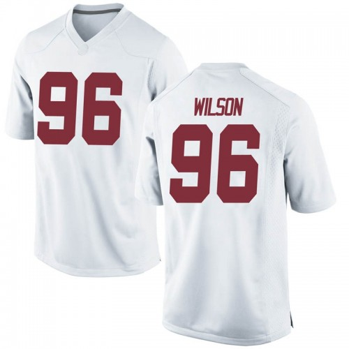 Men's Nike Taylor Wilson Alabama Crimson Tide Game White Football College Jersey