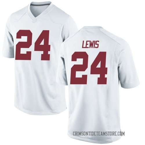 Men's Nike Terrell Lewis Alabama Crimson Tide Game White Football College Jersey