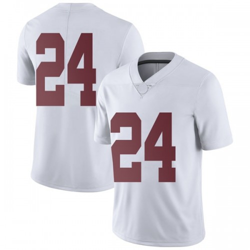 Men's Nike Terrell Lewis Alabama Crimson Tide Limited White Football College Jersey
