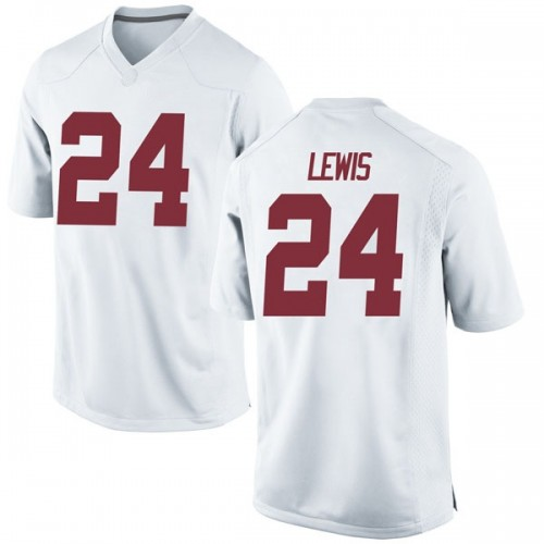 Men's Nike Terrell Lewis Alabama Crimson Tide Replica White Football College Jersey