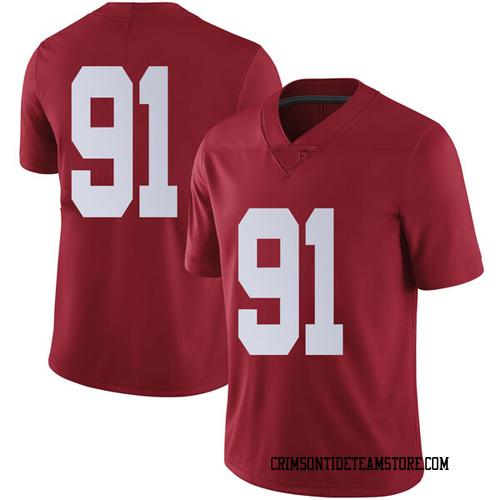 Men's Nike Tevita Musika Alabama Crimson Tide Limited Crimson Football College Jersey